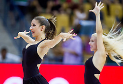 Dragon Ladies perform during friendly match between National teams of Slovenia and Serbia for Eurobasket 2013 on August 3, 2013 in Arena Zlatorog, Celje, Slovenia. (Photo by Vid Ponikvar / Sportida.com)