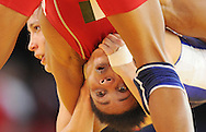 Commonwealth Games, Glasgow 2014<br /> SECC Wrestling 31.07.2014<br /> <br /> Women's 55kg Semi- Final<br /> <br /> Ifeoma Nwoye of Nigeria(RED) lost to Brittanee Laverdure of Canada(BLUE)<br /> <br /> <br /> Neil Hanna Photography<br /> www.neilhannaphotography.co.uk<br /> 07702 246823