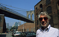 New York. Brooklyn. David Walentas owner of Dumbo area  in water street New York  Usa /   Davis Walentas propietaire du quartier Dumbo, dans la rue water street   New York  USa