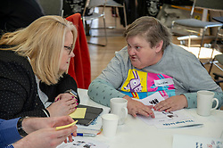 Pictured: Christina McKelvie<br /><br />Minister for Mental Health Clare Haughey and the minister for Older People and Equalities Christina McKelvie visited the Thistle Foundation in Edinburgh today to launch The Keys to Life, which supports people with learning disabilities. <br /><br />Ger Harley | EEm 13 March 2019