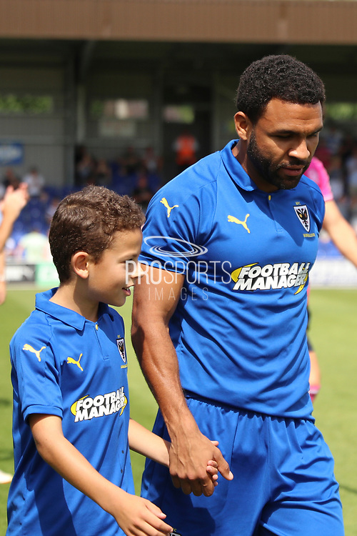*** during the Pre-Season Friendly match between AFC Wimbledon and Queens Park Rangers at the Cherry Red Records Stadium, Kingston, England on 14 July 2018. Picture by Matthew Redman.