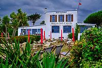France, Manche (50), îles Chausey, Grande Ile, hotel du Fort et des Iles // France, Normandy, Manche department, Chausey isands, Grande Ile, hotel du Fort et des Iles
