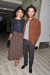 LUKE TREADAWAY and RUTA GEDMINTAS at a party to launch PRPS's new luxury denim line called Noir whilst raising money for UNICEF Japan, held at Nobu Berkeley Street, London on 5th September 2011.
