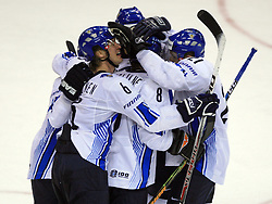 Players of Finland  at ice-hockey match Finland vs Germany (they played in replika jerseys like they were in year 1932) at Preliminary Round (group C) of IIHF WC 2008 in Halifax, on May 03, 2008 in Metro Center, Halifax, Canada. (Photo by Vid Ponikvar / Sportal Images)Won of Finland 5:1.