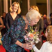 NLD/Amsterdamt/20180930 - Prinses Beatrix bij voorstelling 30 jaar Pierre Audi en De Nationale Opera, Prinses Beatrix en Famke Halsema