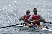 2005 FISA World Cup, Dorney Lake, Eton, ENGLAND, 27.05.05. CAN M2- Bow Ben Rutledge and Kyle Hamilton...Photo  Peter Spurrier. .email images@intersport-images....[Mandatory Credit Peter Spurrier/ Intersport Images] , Rowing Courses, Dorney Lake, Eton. ENGLAND