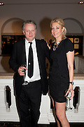 BEN EVANS; NADJA SWAROVSKI Outset dinner 2011.  Organised by Yana Peel supported by Swarovskito raise funds for the V+A to starts its contemporary design collection. V & A. London. 23 March 2011. -DO NOT ARCHIVE-© Copyright Photograph by Dafydd Jones. 248 Clapham Rd. London SW9 0PZ. Tel 0207 820 0771. www.dafjones.com.