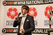 Luke Race during the National League Gala Awards Evening at Celtic Manor Resort, Newport, South Wales on 9 June 2018. Picture by Shane Healey.