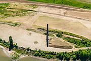 Nederland, Gelderland, Druten, 13-05-2019; Afferdense en Deestse Waarden, met nieuw aangelegde nevengeul om 'ruimte voor de rivier' te hebben bij hoogwater. Deel van Ruimte voor de Waal programma, inclusief aanleg nieuwe natuur. Voormalige, buitendijkse steenfabriek Turkswaard.<br /> Afferdense en Deestse Waarden with newly build ancillary channel to creatw 'room for the river' at high tide.<br /> luchtfoto (toeslag op standard tarieven);<br /> aerial photo (additional fee required);<br /> copyright foto/photo Siebe Swart