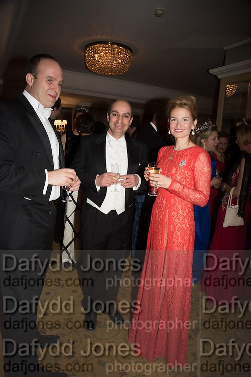 HENRY COBBE; KAMRAN MOGHADAM ; JOSSELINE ILIFFE, The Royal Caledonian Ball 2015. Grosvenor House. Park Lane, London. 1 May 2015.