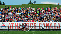 OTTAWA - JULY 07: The crowd watch on during the Men's 100m Final, won by Canada's Andre De Grasse during the 2017 Canadian Track and Field Championships at the Terry Fox Athletic Facility in Ottawa, ON., Canada on July 7, 2017.<br /> <br /> Photo: Steve Kingsman