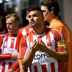 BRISBANE, AUSTRALIA - APRIL 13: Ramone Close of Olympic FC looks on before the NPL Queensland Senior Men's Round 4 match between Olympic FC and Moreton Bay Jets at Goodwin Park on April 13, 2017 in Brisbane, Australia. (Photo by Patrick Kearney/Olympic FC)