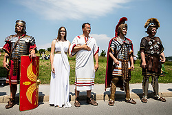 Mascots of Roman Legion XIII during 1st Stage of 27th Tour of Slovenia 2021 cycling race between Ptuj and Rogaska Slatina (151,5 km), on June 9, 2021 in Slovenia. Photo by Vid Ponikvar / Sportida