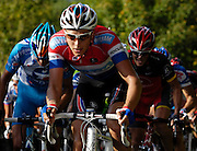 France, October 10 2010:  Niki TERPSTRA, TEAM MILRAM (MRM), on the Côte de l'Epan during the 2010 Paris Tours cycle race.  Copyright 2010 Peter Horrell