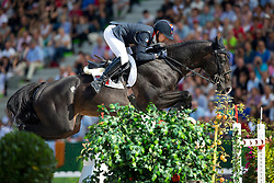 Simon Delestre, (FRA), Qlassic Bois Margot - World Champions, - Second Round Team Competition - Alltech FEI World Equestrian Games™ 2014 - Normandy, France.<br /> © Hippo Foto Team - Leanjo De Koster<br /> 25/06/14