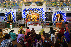 August 14, 2017 - Kolkata, West Bengal, India - Hindu devotees celebrate the Maha Jarmastami at a city temple on August 14,2017 in Kolkata,India. (Credit Image: © Debajyoti Chakraborty/NurPhoto via ZUMA Press)
