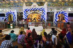 August 14, 2017 - Kolkata, West Bengal, India - Hindu devotees celebrate the Maha Jarmastami at a city temple on August 14,2017 in Kolkata,India. (Credit Image: © Debajyoti Chakraborty/NurPhoto via ZUMA Press)
