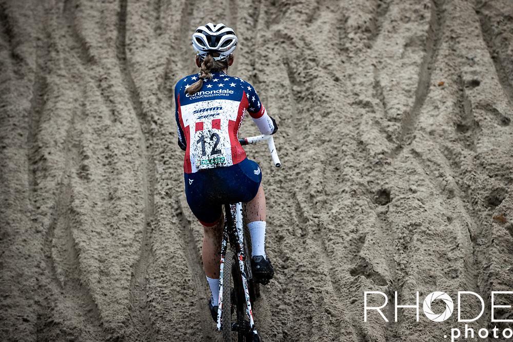 Clara Honsinger (USA/Cannondale CyclocrossWorld)<br /> <br /> CX Superprestige Boom 2020<br /> Women Elite <br /> <br /> ©RhodeVanElsen