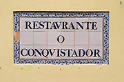 Conquistador restaurant. Lisbon, Portugal