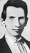 Alexander Franklin  James (1843-1915) known as Frank James, American outlaw and bank robber.  Older brother of Jesse James and member of the James-Younger gang.