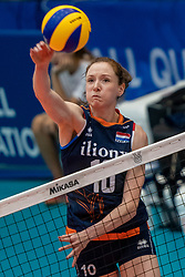 02-08-2019 ITA: FIVB Tokyo Volleyball Qualification 2019 / Belgium - Netherlands, Catania<br /> 1e match pool F in hall Pala Catania between Belgium - Netherlands / Lonneke Sloetjes #10 of Netherlands