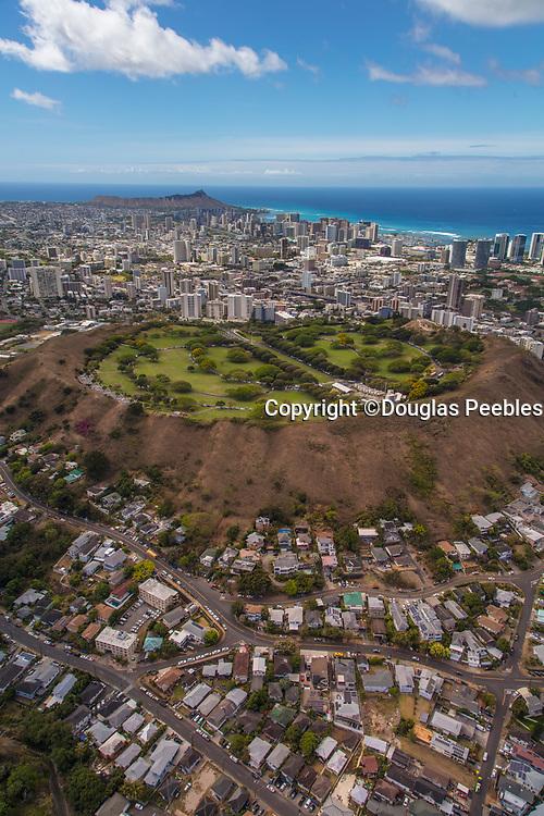 Punchbowl, National Memorial Cemetery of the Pacific, Honolulu, Oahu, Hawaii