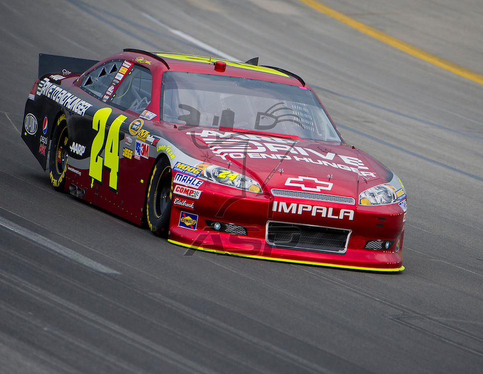 Sparta, KY - JUN 29, 2012: Jeff Gordon (24) during qualifying for the Quaker State 400 at Kentucky Speedway in Sparta, KY.