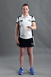 Umpire Natalie Gregan signalling incorrect entry to area