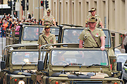 Australian Army 41 Transport group marching on 2007 ANZAC day parade in Hobart Tasmania. <br /> <br /> Editions:- Open Edition Print / Stock Image