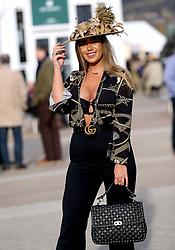 Tyne-Lexy Clarson during Ladies Day of the 2018 Cheltenham Festival at Cheltenham Racecourse.