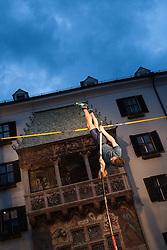 30.05.2015, Altstadt, Innsbruck, AUT, Golden Roof Challenge, Stabhochsprung Maenner, im Bild Robert Renner (SLO) // Robert Renner of Slowenia in action during Men´s Pole Vault at Golden Roof Challenge in Innsbruck, Austria on 2015/05/30. EXPA Pictures © 2015, PhotoCredit: EXPA/ Jakob Gruber