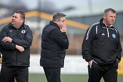 Edinburgh City's manager Gary Jardine at the end. Forfar Athletic 1 v 2 Edinburgh City, Scottish Football League Division Two played 11/3/2017 at Station Park.
