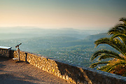 Dawn light at the Cabris viewpoint, Provence, South of France.