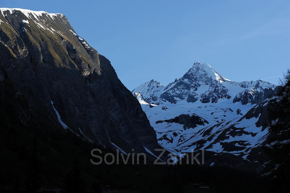 Großglockner fotografiert von der Lucknerhütte aus. Großglockner, Nationalpark Hohe Tauern, Österreich
