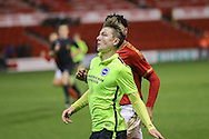 Brighton U18 James Tilley during the FA Youth Cup match between U18 Nottingham Forest and U18 Brighton at the City Ground, Nottingham, England on 10 December 2015. Photo by Simon Davies.