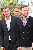 Actors Garrett Hedlund, Justin Timberlake,.at the Coen brother's new film 'Inside Llewyn Davis' photocall at the Cannes Film Festival Sunday 19th May 2013