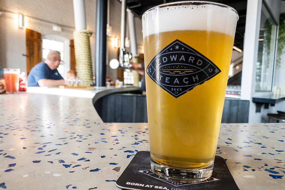 Fresh craft beer at Edward Teach Brewing in Wilmington, North Carolina on Monday, August 9, 2021. Copyright 2021 Jason Barnette