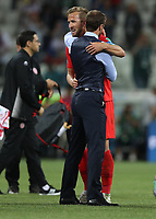 Football - 2018 FIFA World Cup - Group G: England vs. Tunisia<br /> <br /> England manager Gareth Southgate and Harry Kane of England are seen at full time at Volgograd Arena, Volgograd.<br /> <br /> COLORSPORT/IAN MACNICOL