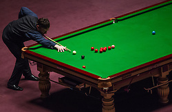 May 19, 2018 - Budapest, Hungary - Jimmy White Great Brittain of plays a shot against Shaun Murphy of Great Brittain during the III. Hungarian Snooker Gala on May 19, 2018 in Budapest, Hungary. (Credit Image: © Robert Szaniszlo/NurPhoto via ZUMA Press)