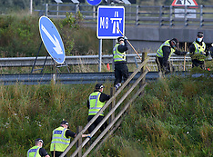 Police close M8 in search for missing man, Whitburn, 19 September 2020