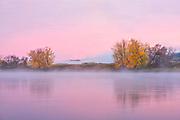 The Saint John River at sunrise<br />Fredericton<br />New Brunswick<br />Canada