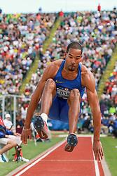 2016 Olympic Track & Field Team Trials<br /> Hayward Field, Eugene, Oregon, USA <br /> Triple Jump, Christian Taylor, Nike