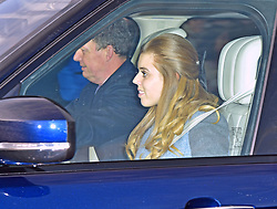 Princess Beatrice arriving for the Queen's Christmas lunch at Buckingham Palace, London.