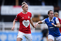 Jasmine Matthews of Bristol City Women is marked by Claudia Walker of Birmingham City Women - Mandatory by-line: Ryan Hiscott/JMP - 18/10/2020 - FOOTBALL - Twerton Park - Bath, England - Bristol City Women v Birmingham City Women - Barclays FA Women's Super League