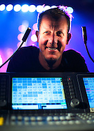 Pete Schroth, a stage manager and lighting designer for the Avett Brothers, at the lighting console, during set up for the band's New Years eve concert on, Wednesday, December 30, 2015, in Greensboro, N.C.  JERRY WOLFORD and SCOTT MUTHERSBAUGH / Perfecta Visuals