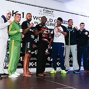 CRO/Zagreb/20130314- K1 WGP Final Zagreb, weging vd deelnemers, alle deelnemers, oa.  Jerome Miller, Mirko Cro Cop, Badr Hari, Hesdy Gerges, Ismael Londt ??..