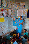 A teacher in a village school assisted by CLAP, Committee for Legal Aid to Poor (CLAP) is a non-profit organisation helping to provide legal aid to the poorer communities in the Orissa district of India.