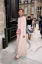 Liya Kebede arriving at the Valentino show as a part of Paris Fashion Week Ready to Wear Spring/Summer 2017 on October 2, 2016 in Paris, France. Photo by Julien Reynaud/APS-Medias/ABACAPRESS.COM