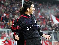Roy Makaay Bayern Jubel nach 4:0<br /> Champions League FC Bayern München - Rapid Wien <br /> Norway only