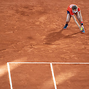 PARIS, FRANCE October 11.  A ball girl in action during the Rafael Nadal of Spain match against Novak Djokovic of Serbia in the Singles Final on Court Philippe-Chatrier during the French Open Tennis Tournament at Roland Garros on October 11th 2020 in Paris, France. (Photo by Tim Clayton/Corbis via Getty Images)